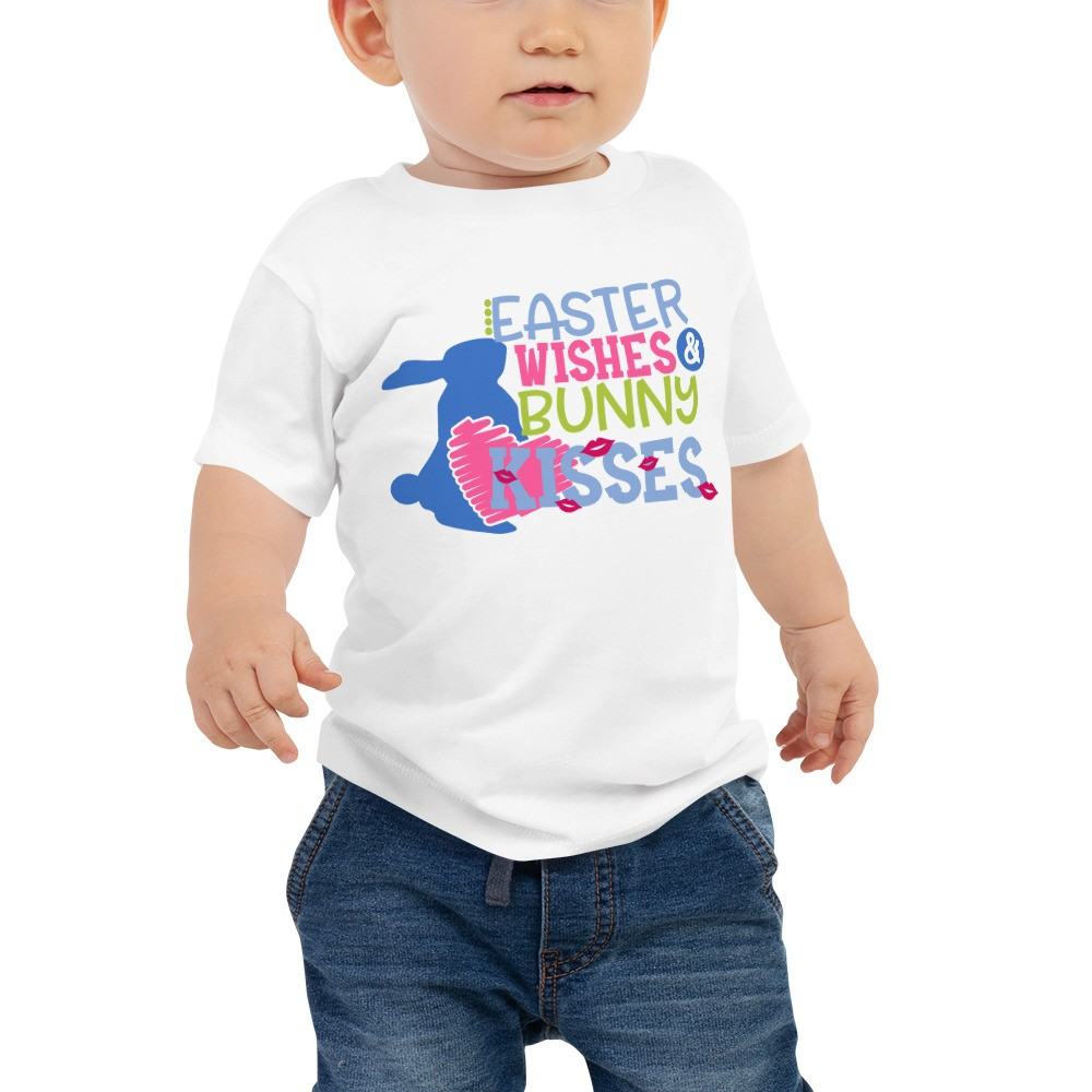 Easter Wishes & Bunny Kisses Baby Jersey Short Sleeve Tee