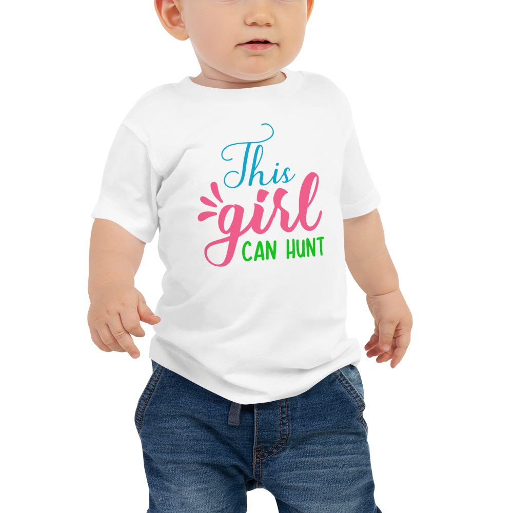 Easter - This Girl Can Hunt Baby Jersey Short Sleeve Tee
