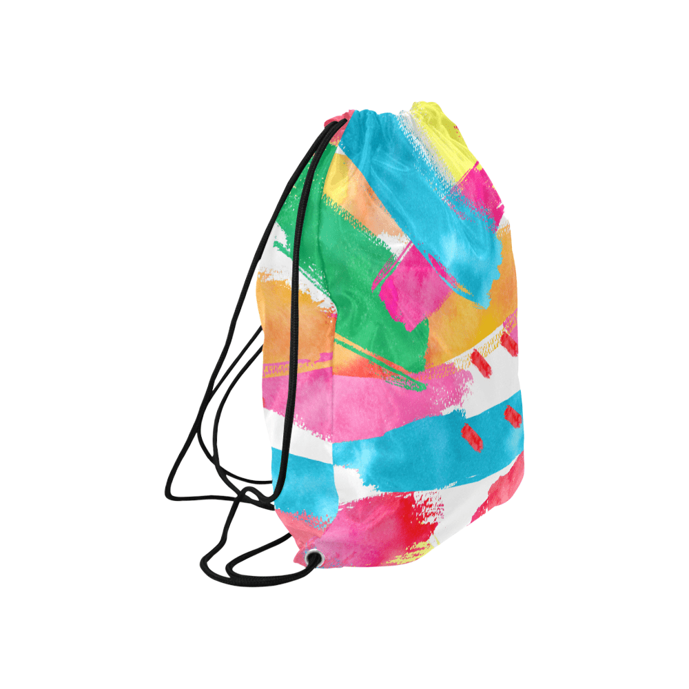 Colorful Patch Pattern Drawstring Bags