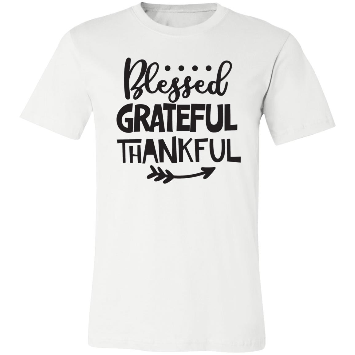 Blessed Grateful Thankful Unisex Jersey T-Shirt