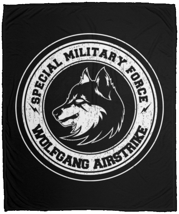 Fleece Blanket Special Military Force Wolfgang Airstrike